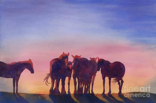 Wall Art - Painting - Dawn Confab by Annette McGarrahan