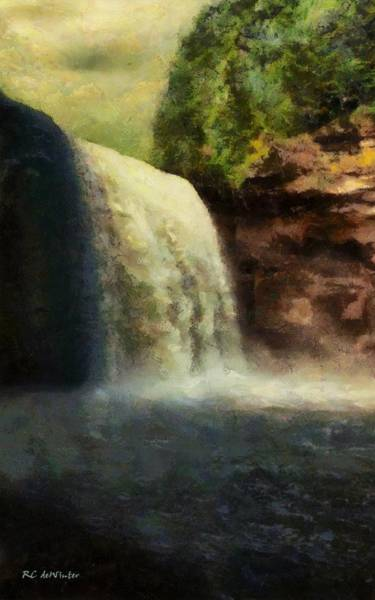 Painting - Dawn Falls by RC DeWinter