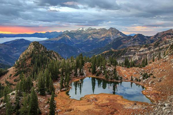 Lake Canyon Photograph - Dawn Glow At Silver Glance Lake. by Johnny Adolphson