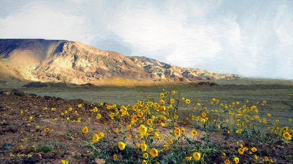 Death Valley Painting - Dawn In Death Valley by RC DeWinter