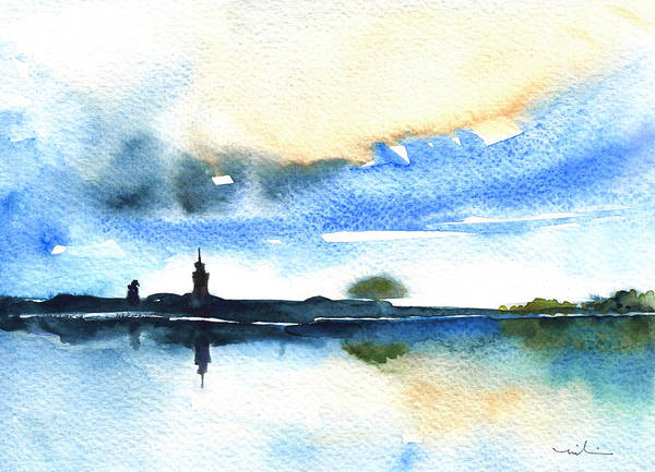 Painting - Dawn In Lindau On Lake Constance by Miki De Goodaboom