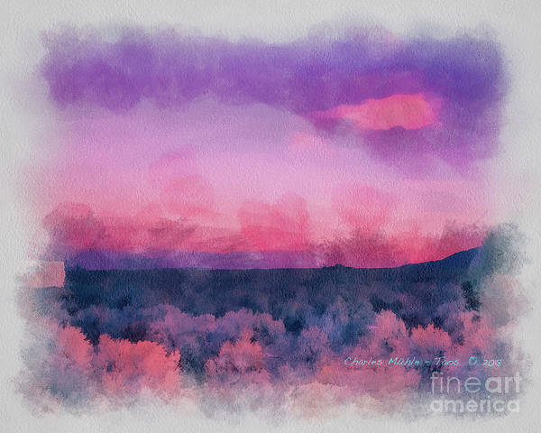 Painting - Dawn In Taos In Aquarelle by Charles Muhle