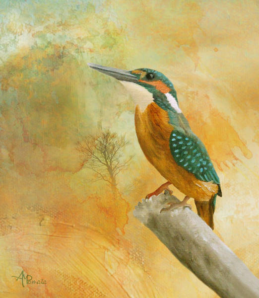 Painting - Dawn Kingfisher by Angeles M Pomata