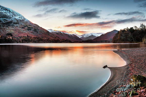 Glenridding Wall Art - Photograph - Dawn Light On Ullswater by Janet Burdon