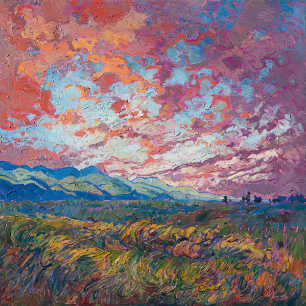 Wall Art - Painting - Dawn Lights by Erin Hanson