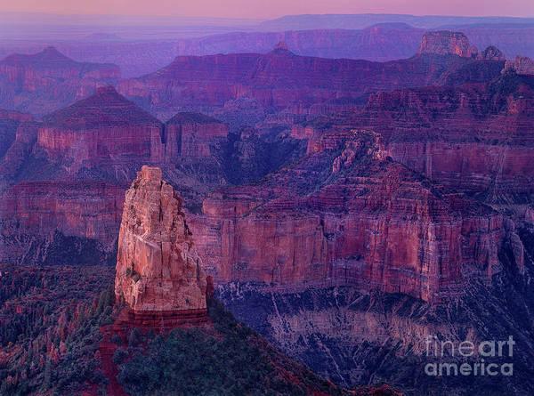 Photograph - Dawn Mount Hayden Sunrise North Rim Grand Canyon Arizona by Dave Welling
