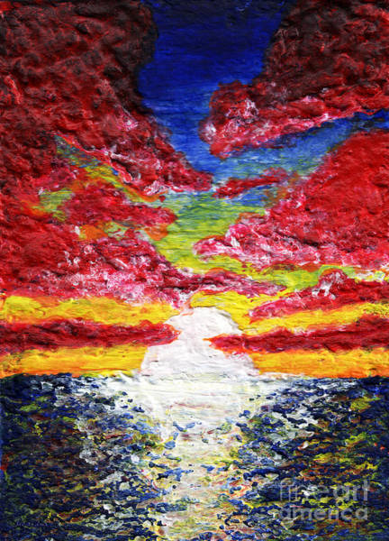 Painting - Dawn Of A New Day Seascape Sunrise Painting 141a by Ricardos Creations