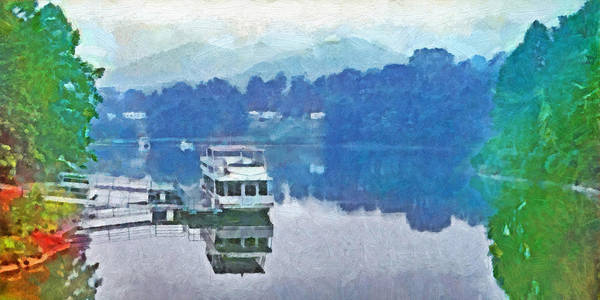 Digital Art - Dawn On Stonewall Jackson Lake In West Virginia by Digital Photographic Arts
