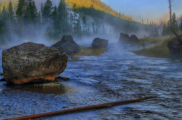 Photograph - Dawn On The Gibbon River by Greg Norrell