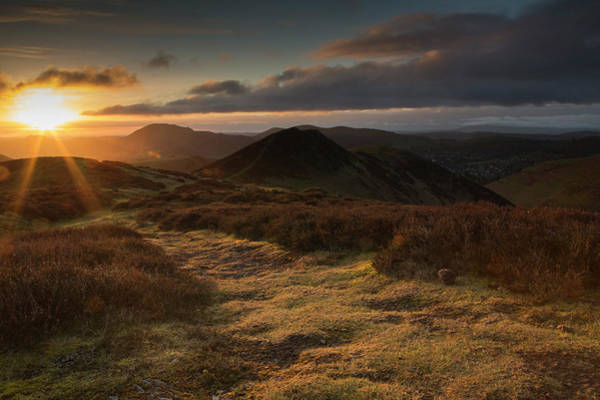 Church Stretton Wall Art - Photograph - Dawn On The Long Mynd by Gruffydd Thomas