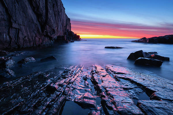 Wall Art - Photograph - Dawn On The Rocks by Michael Blanchette