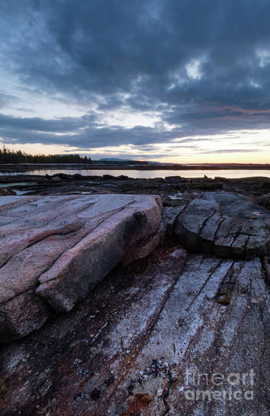 Photograph - Dawn On The Shore In Southwest Harbor, Maine  #40140-40142 by John Bald