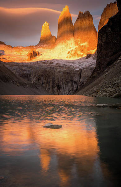 Patagonia Photograph - Dawn On The Torres by Daniel Cooley
