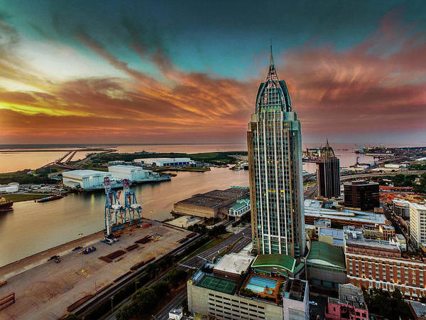 Photograph - Dawn Over Mobile River by Michael Thomas