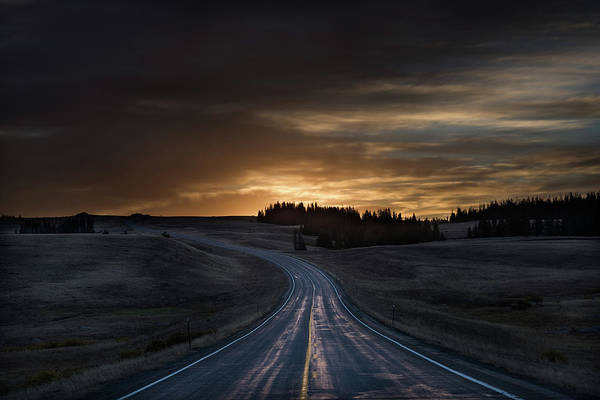 Scenic Highway Wall Art - Photograph - Dawn Over Wyoming 14a by Steve Gadomski