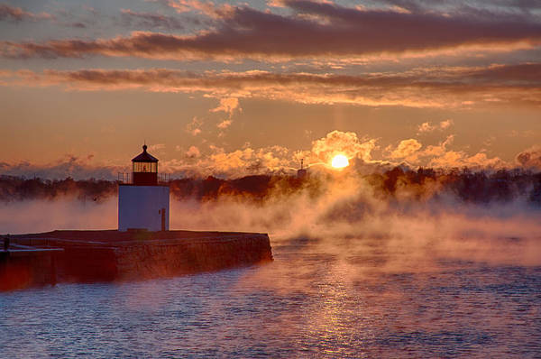 Photograph - Dawn Peeking Over At Derby Lighthouse by Jeff Folger