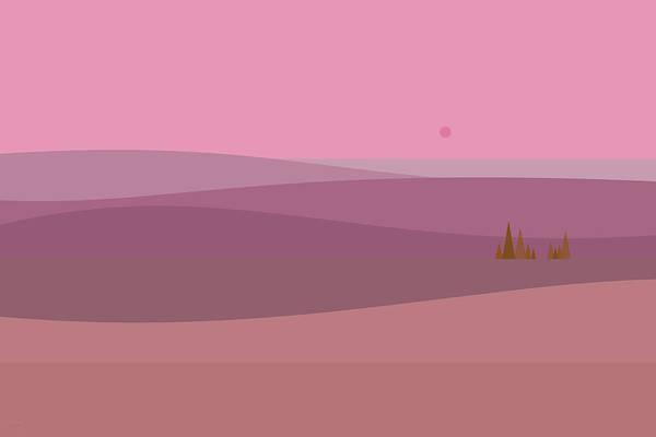 Digital Art - Dawn Pink Sunrise by Val Arie