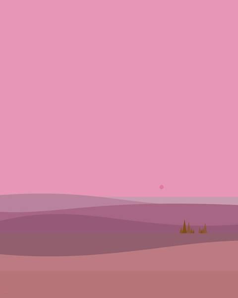 Digital Art - Dawn Pink Sunrise - Vertical by Val Arie