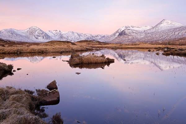 Photograph - Dawn Reflections Of The Black Mount Range by Stephen Taylor