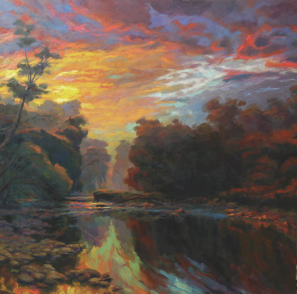 Outdoor Wall Art - Painting - Dawn by Steve Henderson