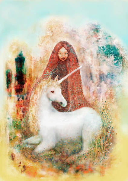 Sacred Heart Mixed Media - Dawn by Tone Plassen