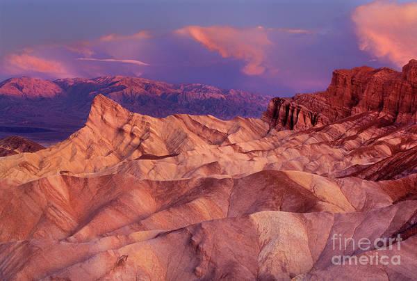 Photograph - Dawn Zabriski Point Death Valley National Park Califor by Dave Welling