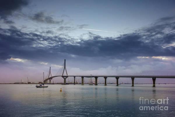 Photograph - Dawning Under 1812 Constitution Bridge Cadiz Spain by Pablo Avanzini