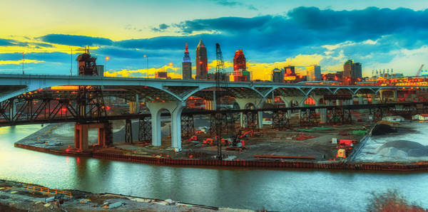 Photograph - Dawn's Early Light In Cleveland by Richard Kopchock