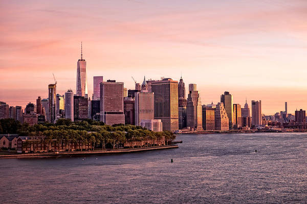 Photograph - Dawn's Early Morning Light On New York City by Lucinda Walter
