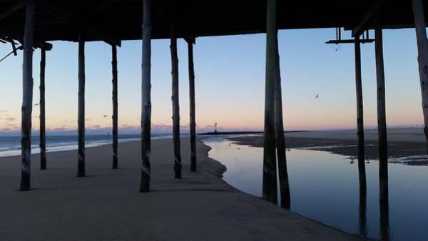 Photograph - Dawn's Light Through The Pier by Robert Banach