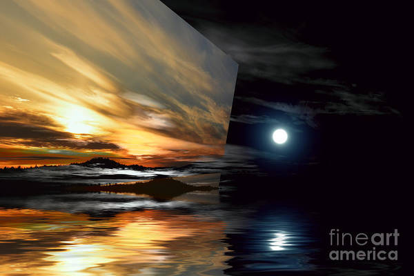 Wall Art - Photograph - Day And Night Welcome Beach by Elaine Hunter