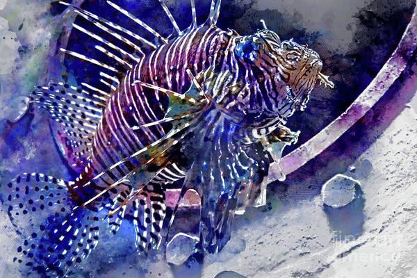 Digital Art - Day At The Aquarium #2 by David Smith