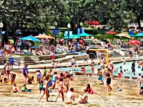 Photograph - Day At The Beach Impressionist by Deborah Kunesh