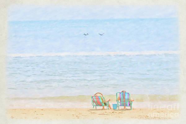 Wall Art - Digital Art - Day At The Beach Sun And Sand by Randy Steele