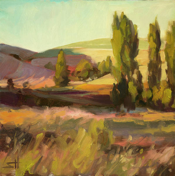 Poplar Painting - Day Closing by Steve Henderson
