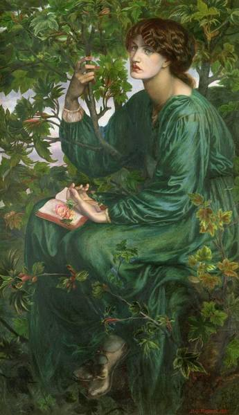 Fantasy Book Painting - Day Dream by Dante Charles Gabriel Rossetti