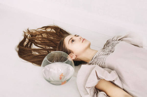 Photograph - Day Dreams. Series Escape Of Golden Fish by Inna Mosina