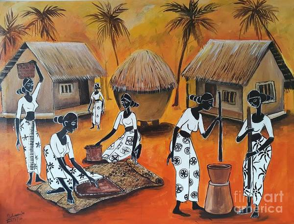 Wall Art - Pastel - Day By Day by Sudumenike Wijesooriya