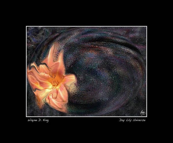 Photograph - Day Lily Universe Poster by Wayne King