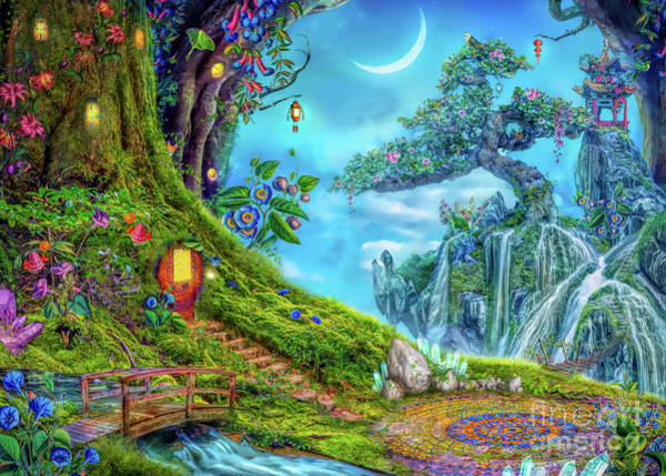 Tale Digital Art - Day Moon Haven by MGL Meiklejohn Graphics Licensing