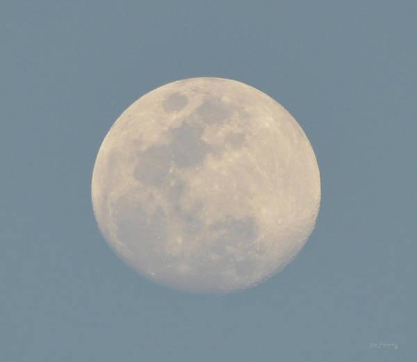 Darkside Photograph - Day Moon by Ken Figurski