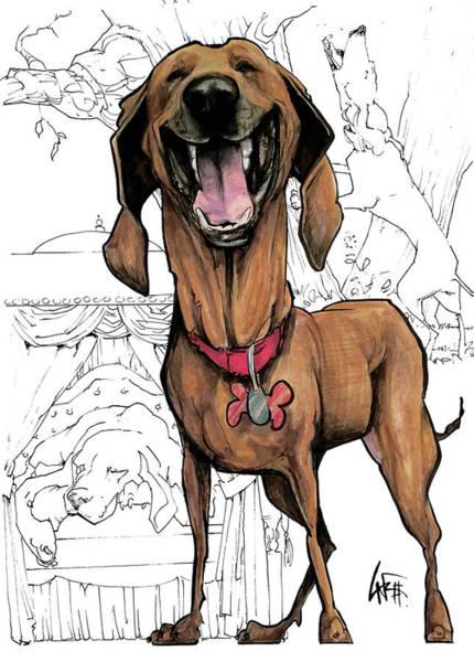 Hound Drawing - Day / Night Hound by John LaFree