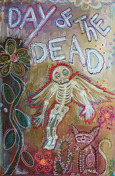 Wall Art - Painting - Day Of The Dead - Ascension by Laura Barbosa