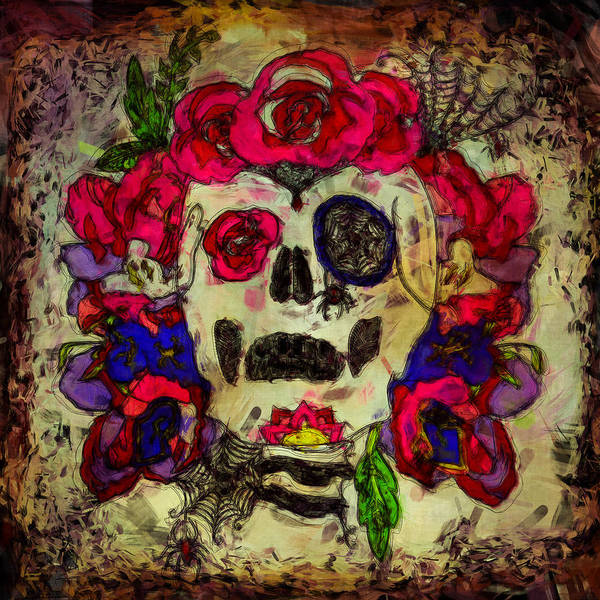 Sketch Holiday Photograph - Day Of The Dead by Cactus Sun Studio
