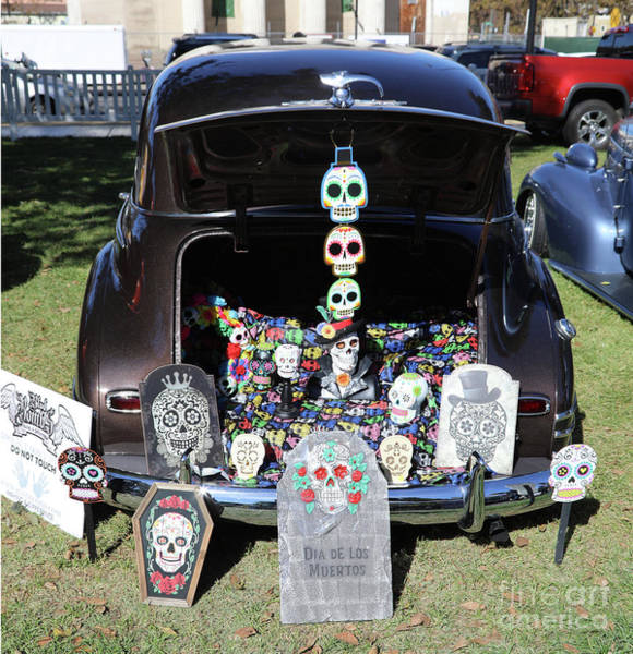 Kahlo Photograph - Day Of The Dead Classic Car Trunk Display  by Chuck Kuhn