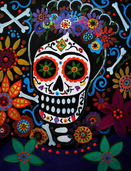 Wall Art - Painting - Day Of The Dead Frida Kahlo Painting by Pristine Cartera Turkus
