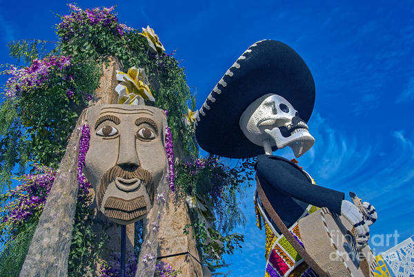 Tournament Of Roses Photograph - Day Of The Dead Parade by David Zanzinger