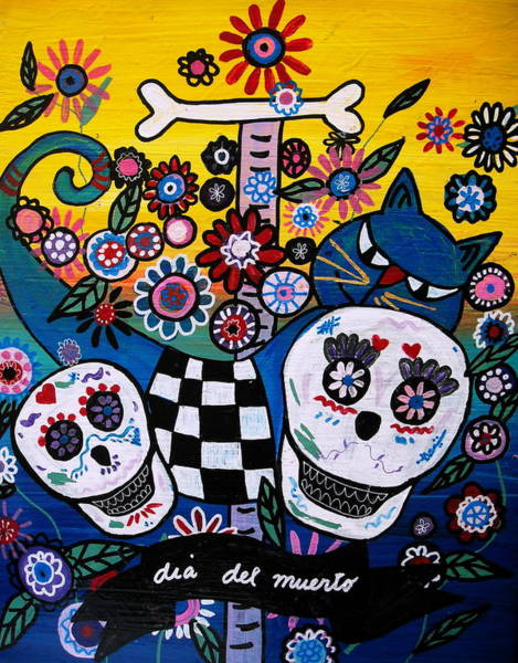 Harana Wall Art - Painting - Day Of The Dead by Pristine Cartera Turkus