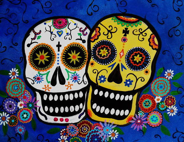 Wall Art - Painting - Day Of The Dead Sugar by Pristine Cartera Turkus