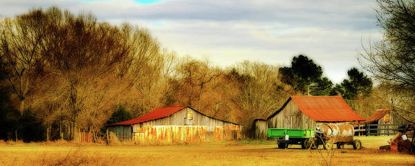 Photograph - Day On The Farm - Rural Landscape by Barry Jones